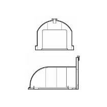 Horizontálny odvod - nástavec s vysokým profilom