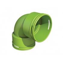 Koleno 90° pre kruhové potrubie Ubbink DN75/63mm