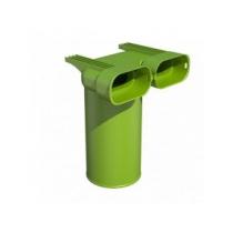 Stropný/stenový box pre tanierový ventil/mriežku DN 125 mm - 90° 2x50x102mm