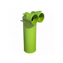 Stropný/stenový box pre tanierový ventil/mriežku DN 125 mm - 90° 2xDN75/63mm