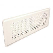 Prívodný/odvodný stenový difúzor s perforovanou čelnou doskou, biely