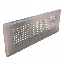 Prívodný/odvodný stenový difúzor s perforovanou čelnou doskou, nerez