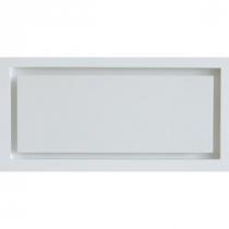 Prívodný/odvodný stenový difúzor plochy na zapustenie, biely