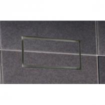 Prívodný/odvodný stenový difúzor plochy na zapustenie,personalizovateľný