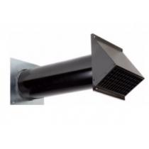 Ventilačná výustka stenová pre prívod/odvod vzduchu, izolovaná s protidažďovým krytom.